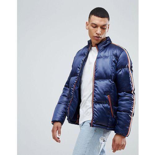 puffer jacket with sleeve tape - navy marki Bellfield