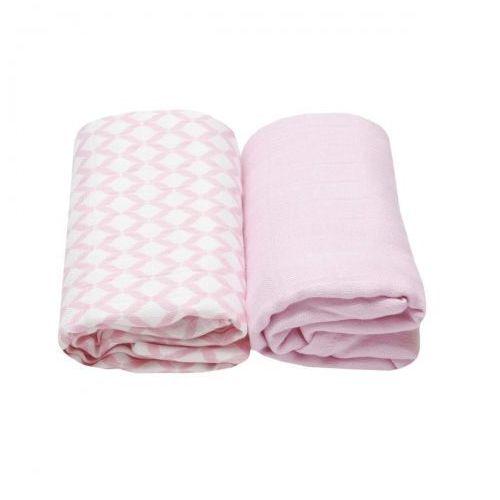 Otulacze muślinowe bamusowe 2 szt. różowy classic, marki Motherhood