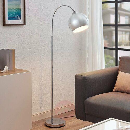 Lampa podłogowa łukowa moisia w chromie marki Lindby