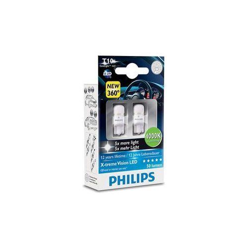 OKAZJA - ZESTAW 2x LED Żarówka samochodowa Philips X-TREMEULTION 127994000KX2 T10 W2,1x9,5d/0,8W (8727900395945)