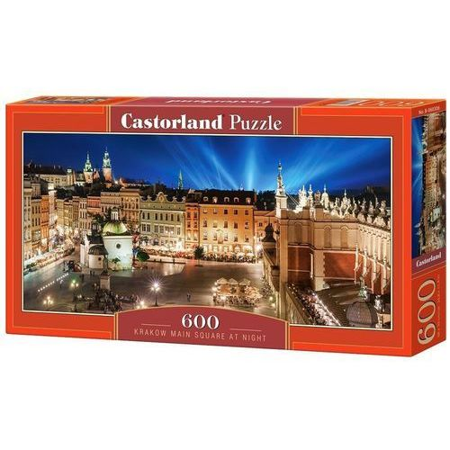 Puzzle 600 panoramiczne:krakow main square at night marki Castorland