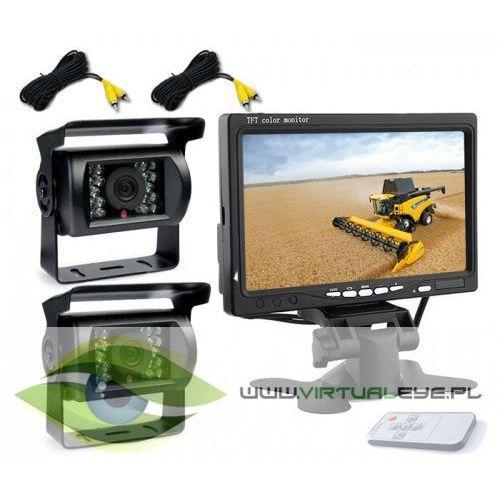 2x kamera cofania monitor 7 cali diody ir 10m bus marki Virtualeye