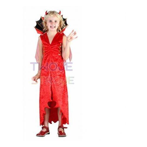 Sukienka diablica czerwona [110-120] marki Twojestroje.pl