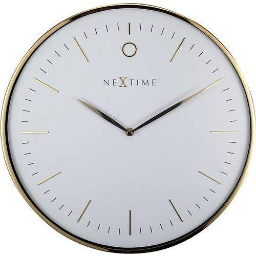 Zegar ścienny glamour biel i złoto marki Nextime
