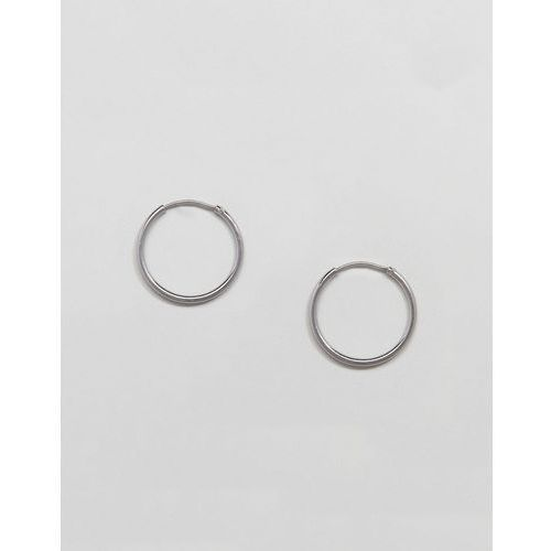 mid ring hoop earrings - silver marki Weekday