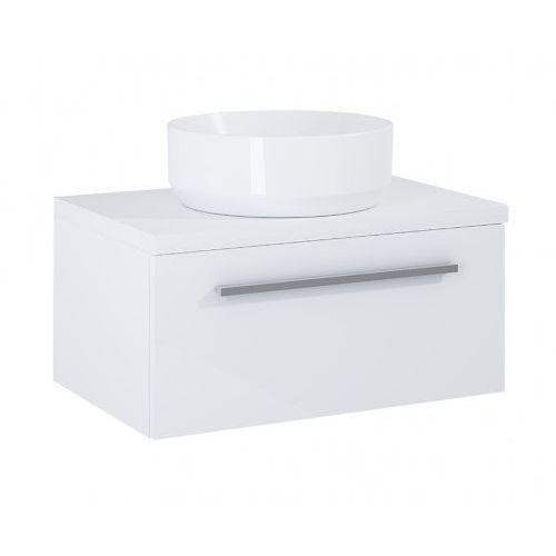 szafka kwadro plus 1s white pod umywalkę nablatową + blat 60 white 166730.166865 marki Elita