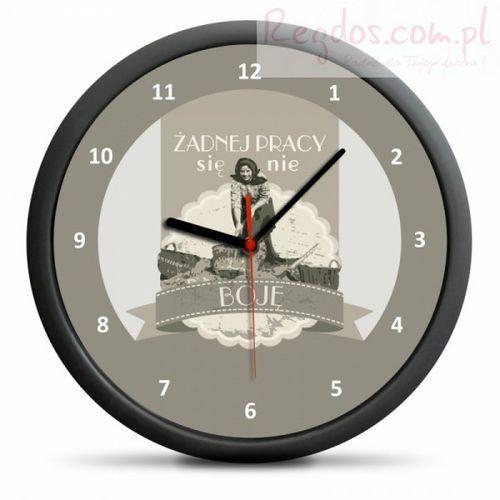 Zegar Retro - Żadnej pracy się nie boję - sprawdź w wybranym sklepie