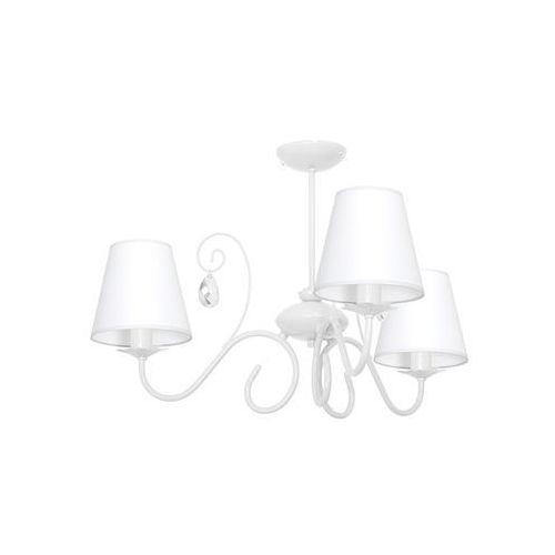Milagro Plafon lampa sufitowa sara mlp 1048 abażurowa oprawa do pokoju dziecięcego crystal biała