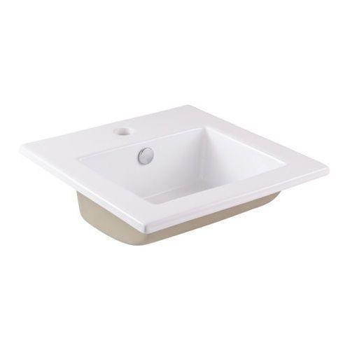 Umywalka wpuszczana GoodHome Tahoe ceramiczna 42 x 42 cm biała (3663602954392)