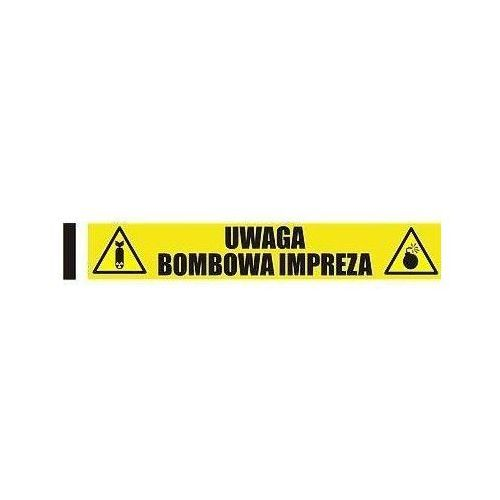 Taśma urodzinowa Uwaga Bombowa Impreza -1 mb - 1 rolka (5907509908286)