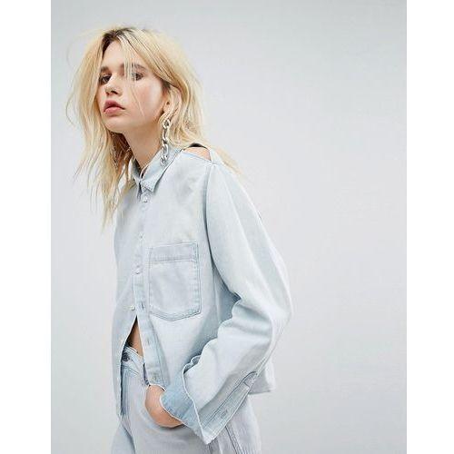 Cheap Monday Slash Shoulder Boxy Denim Shirt - Blue