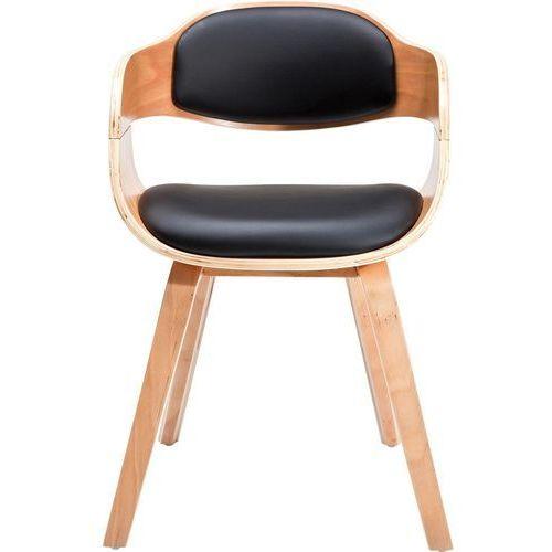 KARE Design:: Krzesło z podłokietnikami Costa Beech - jasne nogi, czarne siedzisko, kolor czarny