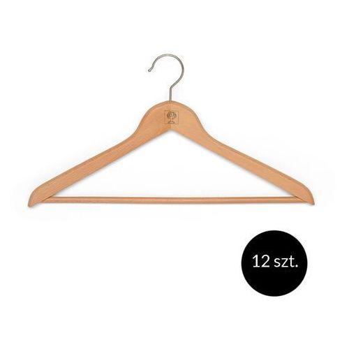 Zestaw 12 drewnianych wieszaków na ubrania Foppapedretti - Naturalny