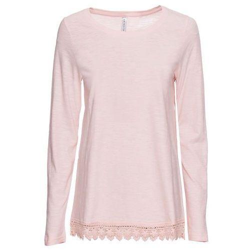 Shirt z marszczeniami bonprix piaskowy melanż, kolor różowy