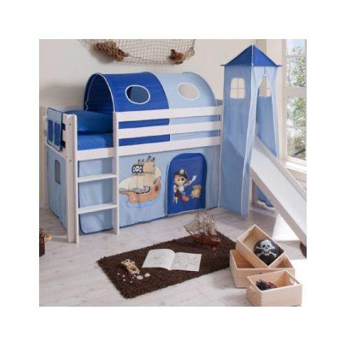 Ticaa kindermöbel Ticaa łóżko ze zjeżdzalnią kasper pirat drewno sosnowe kolor niebieski (4250393808301)