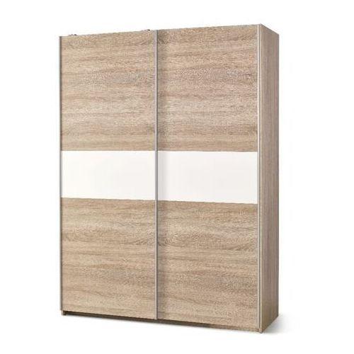 Style furniture Puno szafa przesuwna dąb sonoma/biały