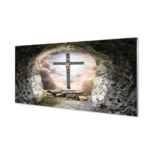 Tulup.pl Obrazy akrylowe jaskinia krzyż światło jezus