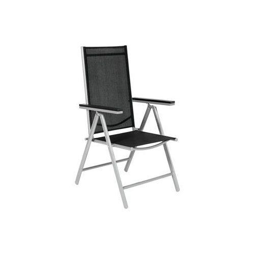 Krzesło ogrodowe składane aluminiowe MODENA - Czarne - Czarny
