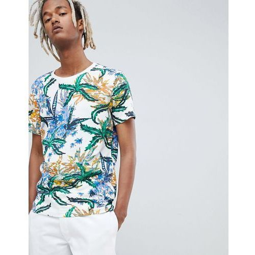 Weekday T-Shirt In White With Tropical Print - Multi, w 3 rozmiarach