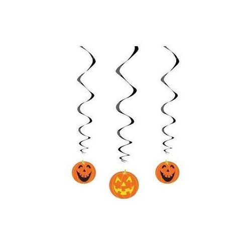Unique Dekoracja wisząca dynie na halloween - 68 cm - 3 szt. p