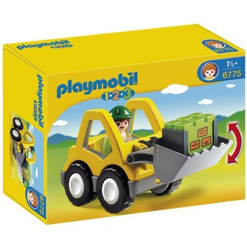Playmobil 1.2.3, Koparka, 6775, klocki