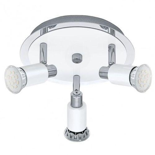 Plafon eridan 90837 lampa sufitowa 3x3w gu10 chrom/biały marki Eglo