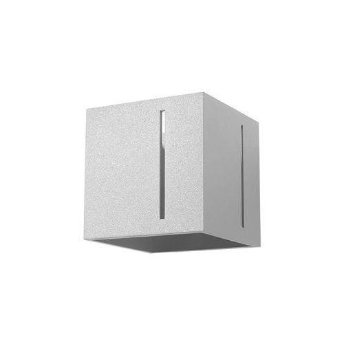 Kinkiet LAMPA ścienna SOL SL.396 kwadratowa OPRAWA metalowa kostka cube szara