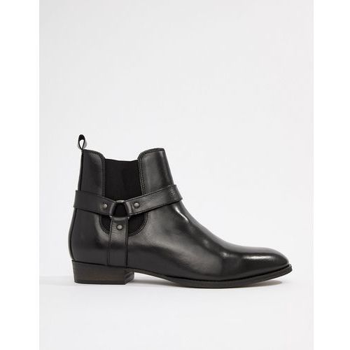 River Island western chelsea boots with cuban heel in black - Black