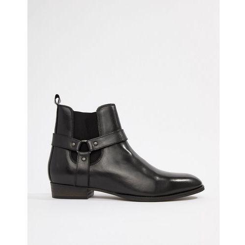 western chelsea boots with cuban heel in black - black marki River island