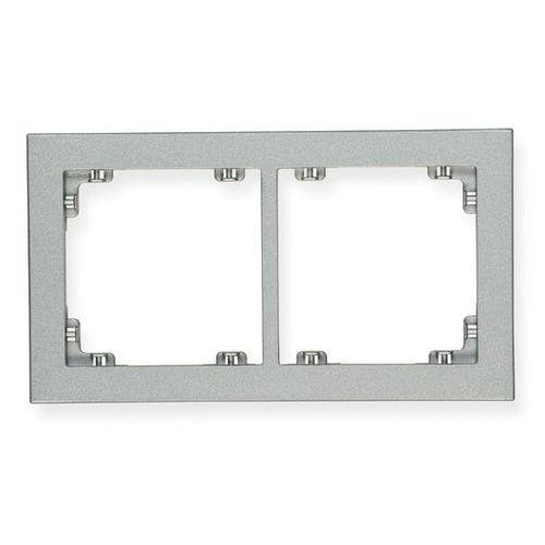 Ramka uniwersalna podwójna DECO Karlik srebrny metalik 7DR-2, 7DR-2/KRL