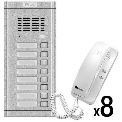 Genway Zestaw domofonowy 8 rodzinny wl-02ne-8