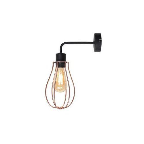 Mlamp Kinkiet lampa ścienna adx 960c industrialna oprawa druciana klatka loft miedziana