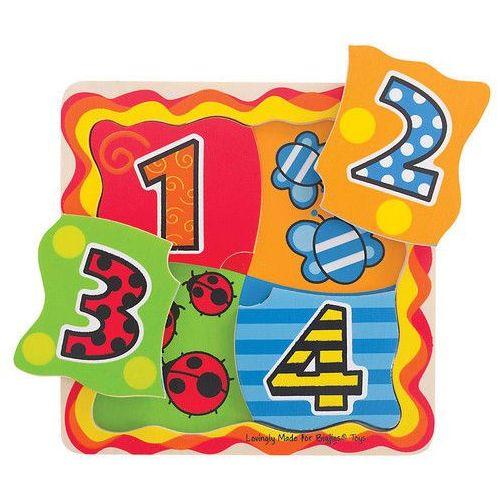 Bigjigs toys Pierwsza dopasowywanka z cyferkami (0691621195109)