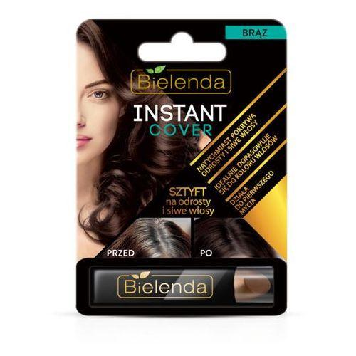 Sztyft na odrosty i siwe włosy brąz Instant Cover 4.3g Bielenda