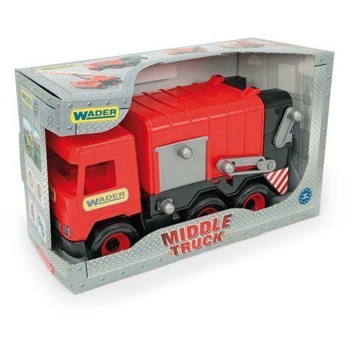 Wader Śmieciarka czerwona middle truck w kartonie (5900694321137)