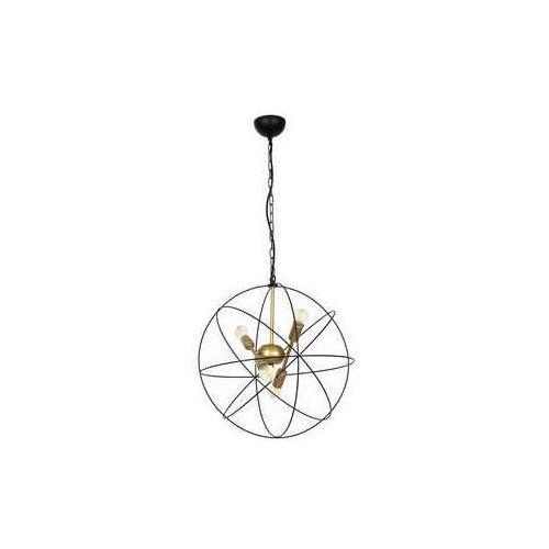 Luminex Copernicus 1098 lampa wisząca zwis 4x60W E14 czarny / złoty