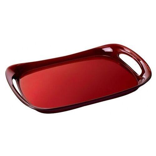 - taca glamour 46 x 30 cm - czerwona marki Casa bugatti