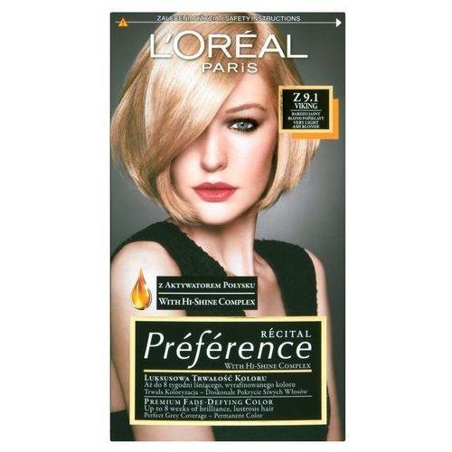 Recital preference farba do włosów z 9,1 viking bardzo jasny popielaty blond - l'oreal paris darmowa dostawa kiosk ruchu marki Loreal