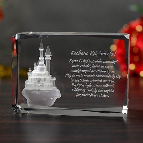 Bajkowy Zamek 3D • personalizowany kryształ 3D • GRAWER 3D GRATIS