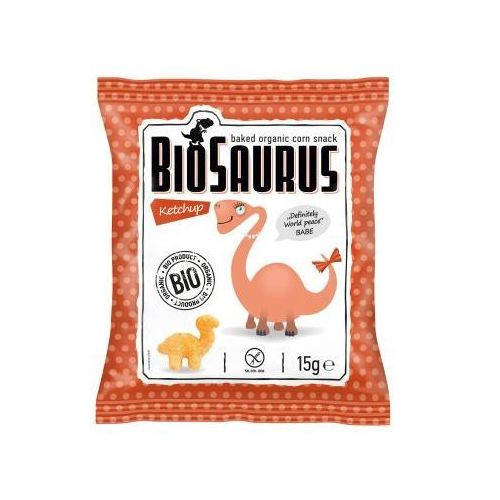 Chrupki kukurydziane o smaku ketchupowym bezgl. bio 15 g biosaurus - marki Cibi