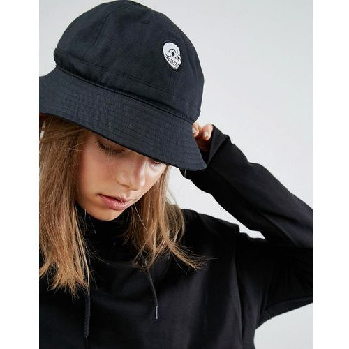 Cheap Monday Bucket Hat in Black Cotton Canvas - Black