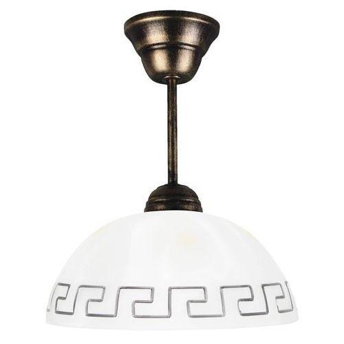 Lampa wisząca (klosz greka biała), 066/Z CZ