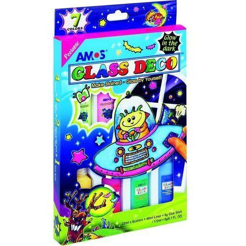Farby witrażowe glass deco 7 kolorów blister marki Amos