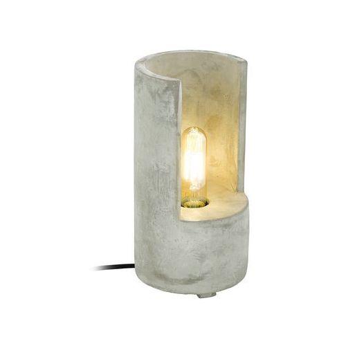 Lampa stołowa lynton 49111 lampka 1x60w e27 szara marki Eglo