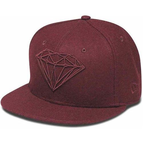 czapka z daszkiem DIAMOND - Brilliant Fitted Burgundy (BUR) rozmiar: 7 1/2