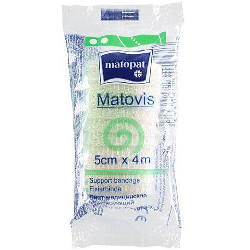 Bandaż Matovis nieelastyczny dziany, podtrzymujący, poliestrowy 5cm x 4m