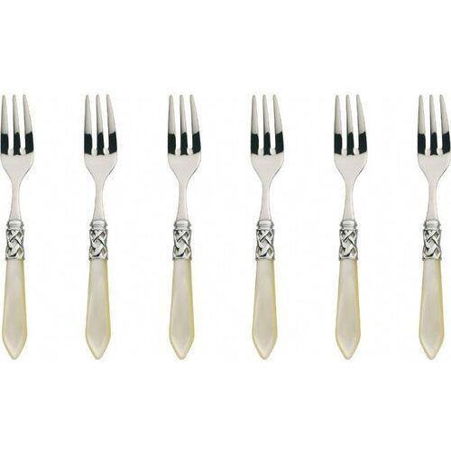 Casa Bugatti - ALADDIN - Komplet 6 widelczyków - perłowa kość słoniowa