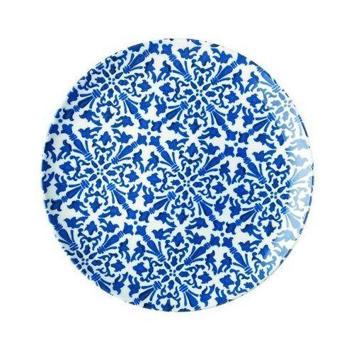 Guzzini - tiffany - talerz obiadowy le maioliche, granatowy (8008392295082)