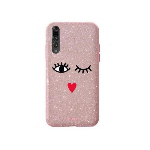 Etui Glitter EYES Shine Cover do Huawei P 20 różowe złoto (8033830267635)