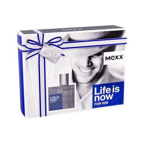 life is now for him zestaw edt 30ml + 50ml żel pod prysznic dla mężczyzn marki Mexx